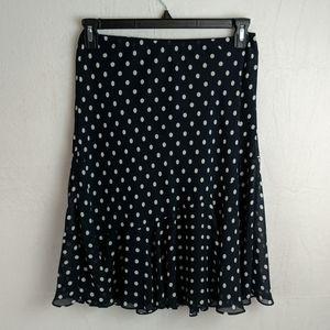 Chaps size small navy blue& cream polka do…